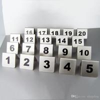 Numero di carte Numero 1-100 Numero di metallo dell'acciaio inossidabile Segnaletica Tabella di segno di segno Ristorante Albergo Cafe Bar Strumenti DH0595