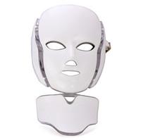 7 색 광자 PDT LED 얼굴 마스크 LED 얼굴 및 목 마스크 PDT LED 라이트 테라피 피부 회춘에 대 한 바이오 마이크로 류와 함께 활성 노화