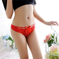 Sexy Lace Briefs Panties Rose Bowknot Bandage Waist Briefs S...