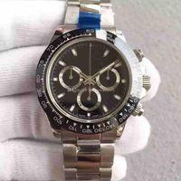 도매 무료 배송 스테인레스 스틸 자동 기계 망 시계 패션 망 시계 40mm 남자 스포츠 손목 시계