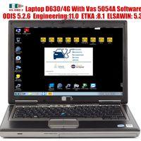 2020 OBD 2 Scanner VAS 5054A ODIS 6.2.0 Программное обеспечение и 4G ноутбук D630 с инженером ODIS 12.1.etka 8.2.elsawin 6,0 VAG Поддержка онлайн
