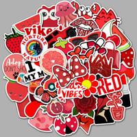 50 pcs / sac autocollants de voiture mélangés SER populaire rouge mignon pour ordinateur portable skateboard pad de skateboard vélo moto PS4 téléphone portable porte-casque décalque PVC autocollants