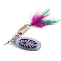 Hengjia cucchiaio pesca esche in metallo jig eschetti crankbait casting sminker cucchiai con gancio in piuma per trota bass spinner esca