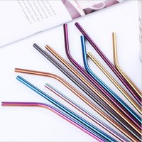 Stainless steel straw color 304 coffee pearl milk tea straw ...