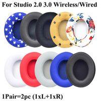 Dla Studio 2.0 Studio 3.0 Słuchawki Słuchawki Poduszka Soft Protein Leather Pamięć Pamięć Wymiana Earmuff Ear Pad Studio 2 3