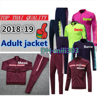 2018 2019 terno de treinamento de jaqueta de futebol Messi 18 19 SUAREZ  COUTINHO O d2b7a18aae911