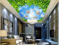 3d wandbilder tapete benutzerdefinierte foto vlies wandbilder engel, engel, segen, friedenstauben, zenith wohnkultur wandkunst bilder