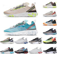 Nike air max 87 airmax 55 React Element 87 55 UNDERCOVER Damen Herren Laufschuhe Volt Racer Pink Royal Tint Thunder Orange Spiel Royal Blue Sports Sneakers freie
