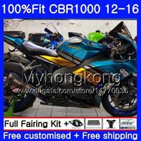 Injektion für Honda Shark Fish Blue CBR 1000RR 2012 2013 2014 2015 2016 2016 273HM.63 CBR1000 RR CBR 1000 RR CBR1000RR 12 13 14 15 16 Verkleidungen