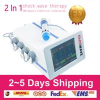 신체 통증 완화를위한 휴대용 EMS 충격파 물리 치료 기계 / ESWT 음향 방사 충격파 치료 기계 ED 치료