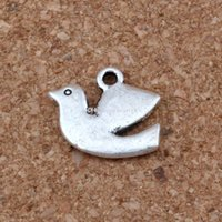 Peace Dove Bird Подвески Подвески 100 Шт. / Лот 17x13.5 мм Античное Серебро, Ювелирные Изделия DIY Fit Браслеты Ожерелья Серьги A-250