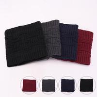 Women Knitted Scarves Outdoor Causal Winter Warm Crochet Ski Neckerchief Fashion Ear Muffs Men Knit Neck Scarf TTA1656