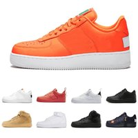 Air force 1 af1 US5.5-11 Alta calidad Just Orange Utility Red 1 Dunk Zapatos casuales Negro Blanco Trigo Mujeres Hombres High Low Cut Zapatillas de deporte Zapatillas de deporte