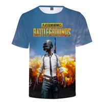 Heißes Spiel PUBG 3D T Shirt Männer / Frauen Playerunknowns Schlachtfelder Männer T Shirt PUBG 3D Print Plus Size Cloth