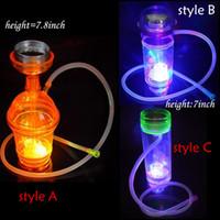 7 İnç için 7.8 İnç Renkli LED Akrilik Kupası Renkli Işık Cam Bongs Heady Cam Su Boruları