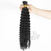 VMAE Natural Preto Atacado Cabelo Humano Brasileiro Brasileiro Curly Onda Deep Wave 100G Weave Bundles Extensão