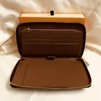 Organizzatore di lusso Mono Portafoglio da portafoglio GRATUITO con cerniera Zipper Prezzo all'ingrosso Donne GRAM CANVERS Organizer Spedizione in pelle Lungo Zippy M60002 Embxo