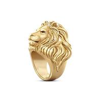 Anello del leone del leone del metallo Anello dell'angolo dell'anello dell'anello dell'angolo dell'animale dell'animale dell'angolo per il partito del regalo Dimensioni del partito 7-12 Gioielli di modo