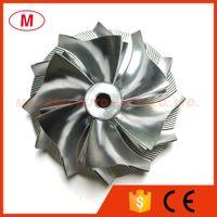GT3582 451644-0005 61.33 / 82.00mm 6 + 6 lames Performance Turbo Aluminium 2618 / Point de fraisage / billettes roue de compresseur pour les courses Turbocompresseur