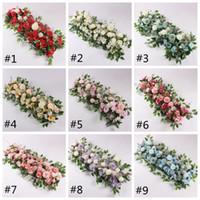 50cm artificielle Fleur Rose Ligne Pivoine Hydrangea Plante Mix fleur arc bricolage fleurs en soie Ligne pour mariage Décoration de fête HHA741
