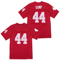 Pas cher 44 Forrest Gump Tom Hanks Football Football Jersey Mens University Jerseys Rouge Cuisse Taille S-3XL