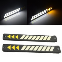 2pcs Car Head Light COB LED Daytime Running Lights DRL Fog L...