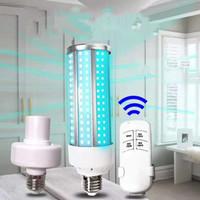 Tubo Bombilla 60W ultravioleta UV esterilizador de luz con control remoto Control de desinfección bactericida Lámpara Esterilizador Mite luz E27
