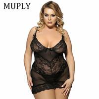 MUPLY плюс размер 3XL 5XL 7XL женщины сексуальное женское белье горячая большой код сексуальное нижнее белье Принцесса высокого класса пижамы эротическое кружевное белье D18120802