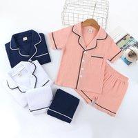 Diseñadores Ropa para niños Pijamas Ropa Traje de moda Boutique Bebé Algodón Pijamas Pantalones cortos Camiseta T-shirt Traje de verano CZ702