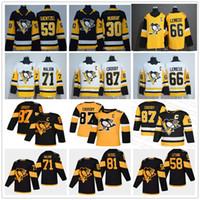 Giovanili Mens Lady Pittsburgh Penguins Sidney Crosby 87 Stadio Evgeni Malkin Kris Letang Jake Guentzel Murray Hornqvist Lemieux Hockey maglie