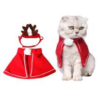 معطف عيد الميلاد القط الملابس كلب زي القط زي بابا نويل الشتاء عيد الميلاد الحيوانات الأليفة ملابس الملابس المصنوعة من القطن لالقط الكلب XD22636