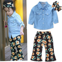 Baby Floral outfits girls headband + top + chrysanthemum pri...