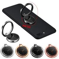 360 graders klocka form finger ringhållare metall telefon står för iPhone 7 8 Samsung Huawei mobiltelefoner
