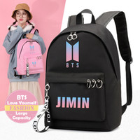 Youpop KPOP Bangtan Boys Love Yourself Backpack JUNGKOOK V RM School Bags Jewelry Admission Package Cosmetic B032