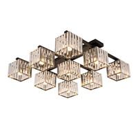 İskandinav Salon Tavan Lambası Yatak Çalışması Yemek Odası Tavan Işık Lüks Postmodern Kristal Aydınlatma Home For Minimalist Işık led