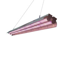 4ft T5 HO ışıklar büyümeye yol açtı tam spektrum çift tüp entegre T5 Şerit bar büyüyen lamba armatürleri, fiş, ON / Off çekme zinciri dahil
