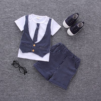 good quality Summer Baby Clothes Set Boys Clothing Set Latti...