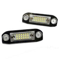2PCS 18LED 라이센스 번호 플레이트 라이트 램프 Volvo C30 XC60 XC70 XC90 S40 S60 S80 V50 V60 V70 자동차 액세서리