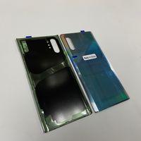 Pour la note 10 / Note 10 Plus arrière Retour boîtier en verre batterie boîtier couvercle porte avec l'original adhésif autocollant