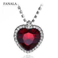 Женщины Повседневная форма сердца пластиковый драгоценный камень горный хрусталь 45 см/17,7 дюйма драгоценный камень, змея цепи кулон ожерелья