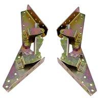 Mecanismo 1 Par de 3 posiciones de ángulo de bisagra para el hogar Ropa de cama Sofá cama de bricolaje de bronce