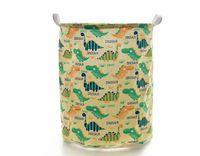 Dinosaurio de dibujos animados Cesto de ropa Cesto de almacenamiento Cestas de almacenamiento Océano Animal Cesto de ropa plegable para organizar cestas de juguetes para niños / Armario / Estante