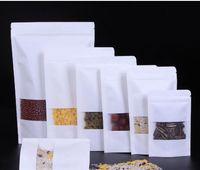 Generale finestra di apertura kraft sacchetto di tenuta carta self ossa tirando il dado sacchetto di frutta secca tenuta bustina di tè imballaggio spuntino tutela dell'ambiente