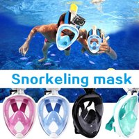 (A335X) Anti-Fog Nuoto Full Face Mask Superficie Diving Snorkel nuotata subacquea Breath fronte pieno Snorkel Anti-Fog Maschera superficie Nuoto Occhiali