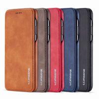 Carteira Magnetic luxo Titular Couro Flip Phone iPhone Case Capa Para 6 7 8 XS Max XR 11 Pro Samsung S8 S9 S10 S20 Nota 8 9 10 20 Plus