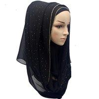 hijab bufanda cadena de oro sólido bufandas musulmanes cristal gasa de la manera normal burbuja abrigos de la bufanda chales venda de bufandas largas