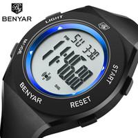 Benyar 남자 스포츠 디지털 방수 시계 남성 소년 LED 디지털 스톱워치 날짜 스포츠 손목 시계 Relogio Masculino 디지털 선물