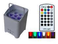 TIPTOP беспроводной батарейках портативный Аплайты 6 6W 6in1 Led Par Light RGBWA + UV Слим Par Can с IRC Для украшения венчания TP-B06