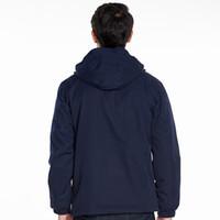 Fashion-Mens Softshell escursionismo Giacche antivento Uomo Nuovo Outdoor Alpinismo Abbigliamento Due Pezzi Tre-in-one cappotto caldo