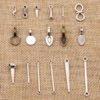 120 Stück Metallcharme für Schmucksachen, die perforierte Loch Bails Perlen Stecker HJ230